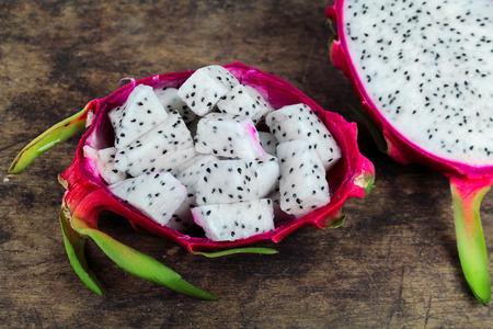 luscious: Dragon fruit, white flesh and red peel Stock Photo