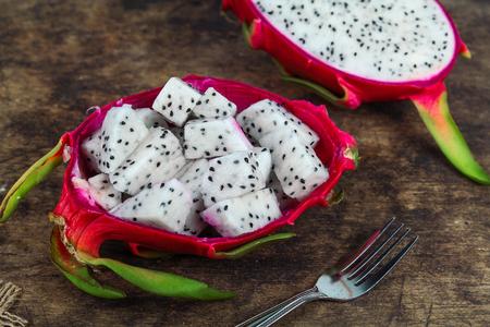 Dragon fruit, white flesh and red peel