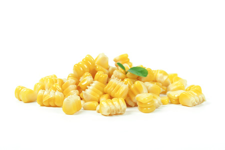 yellow sweet corn isolated on white background Stock Photo