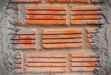 Old brick wall, old texture of red stone block