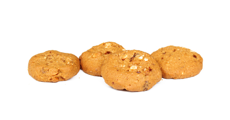 Oatmeal raisin cookie isolated on a white background Stock Photo