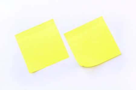 yellow sticky note isolate on white background