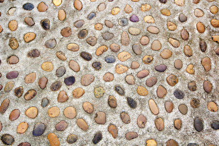 various colored small river stones, Smooth round rock texture