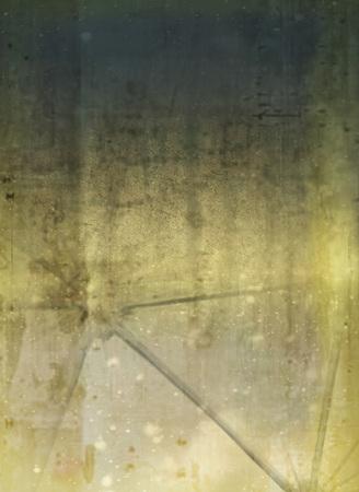 Broken glass on concrete Stock Photo