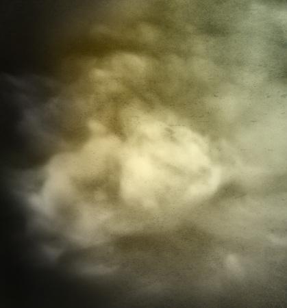 Grunge Yellow & Green Cloud Background