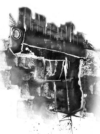 Gun city illustrations