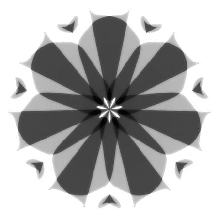 Mandala Simple Design Gray-scale