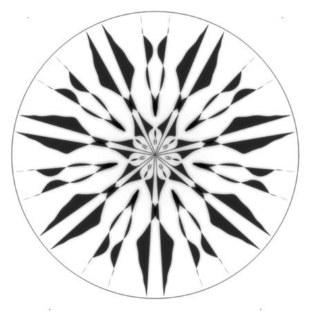 Black & White Mandala Pattern Design
