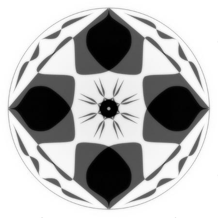 Black & White Simple Mandala Design Stock Photo