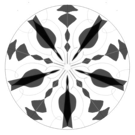 Gray-scale Mandala Design Pattern