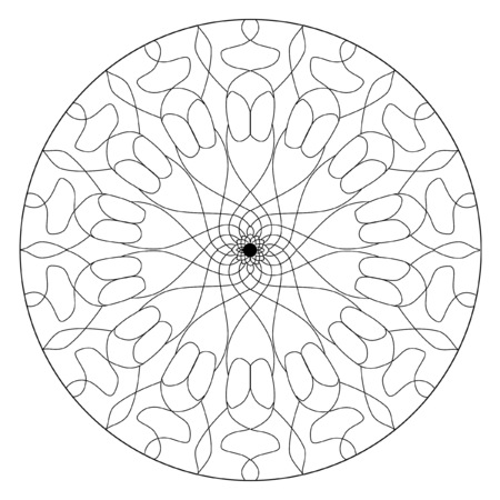 Mandala Coloring Book Design