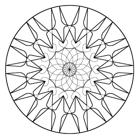 Mandala Lineart Coloring Book Design