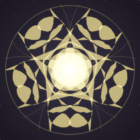 Gold Light Mandala Stock Photo