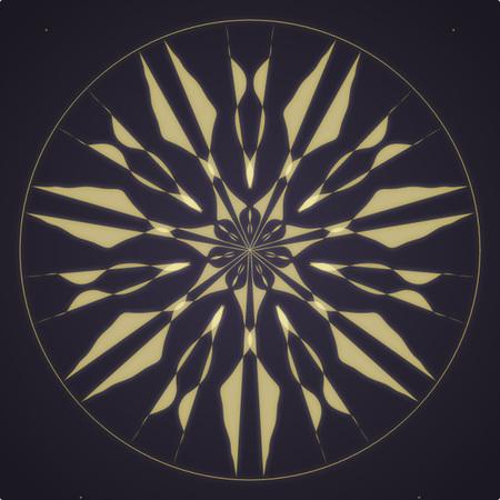 Light Mandala Design Stock Photo