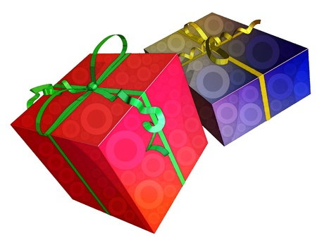 consumerism: illustration of gifts boxes representing notions such as christmas, birthday, festive season, consumerism and celebration of an event