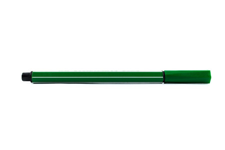 fine tip: Green colour pen isolated on white background