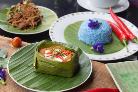 paste: steamed fish with curry paste