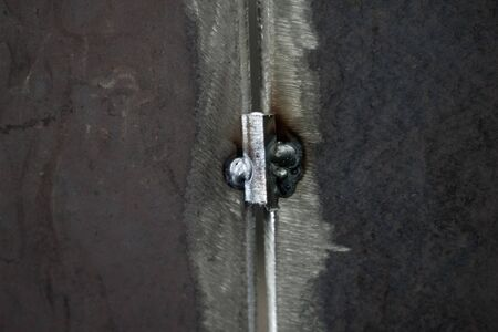 Steel weld joined by welding process for pressure vessel fabrication Reklamní fotografie