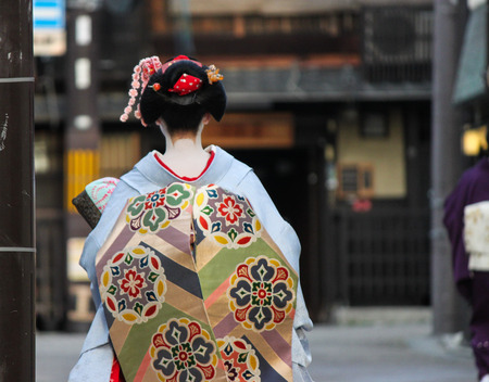 Geisha in Kyoto, Japan 版權商用圖片