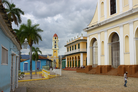 View of a spot in the center of Trinidad Cuba Editorial