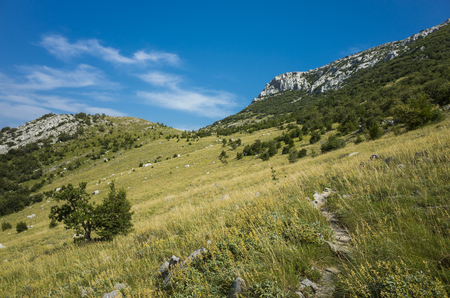 paklenica: Hiking In Mountain Paklenica Velebit In Croatia Stock Photo