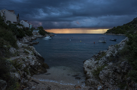 Storm clouds over Adriatic Sea Croatia