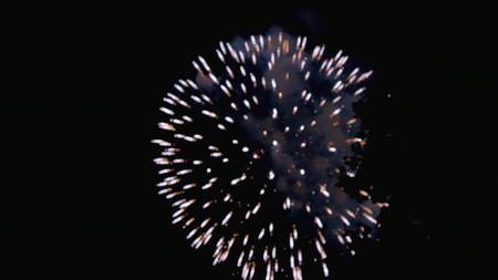 consecutive: Beautiful fireworks in the night sky Stock Photo