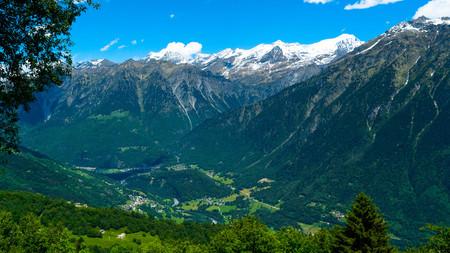 eiger: Environment in the Swiss mountains. Kanton Tessin.