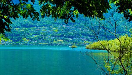 Lake Langensee in the city of Ascona, Switzerland.