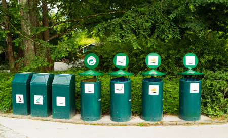 Garbage bins in public places