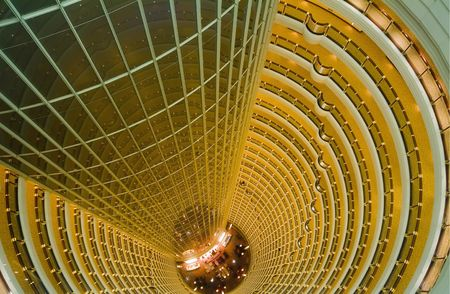 jin mao tower: Jin Mao Tower, Shanghai; New China; Pudong Stock Photo
