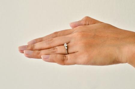 Diamond ring on her hand Stock Photo - 16313234