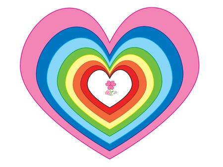 position d amour: Plusieurs taille et la couleur des coeurs � la m�me position