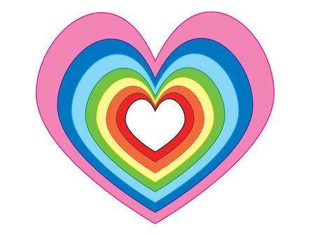 position d amour: Plusieurs taille et la couleur des c?urs � la m�me position Banque d'images
