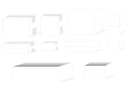 variable: Several size and shape of boxes for variable of using Stock Photo