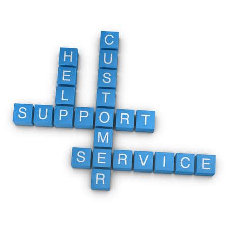 Customer support crossword on white background, 3D rendered illustration Stock Illustration - 10317421