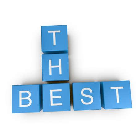 The best crossword on white background, 3D rendered illustration Stock Illustration - 10354116