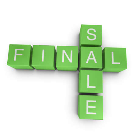 Final sale crossword on white background, 3D rendered illustration Stock Illustration - 10532135