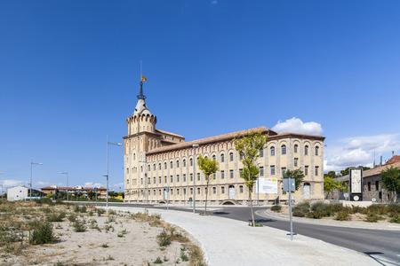 CERVERA,SPAIN-AUGUST 26,2013: Architecture, modernist style building, La Farinera del Sindicat Agricola, flour factory,by architect Cesar Martinell, Cervera, province Lleida, Catalonia.