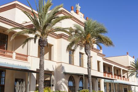 EL VENDRELL,SPAIN-JANUARY 8,2016: Le Meridien Ra Beach Hotel & Spa, exterior view, El Vendrell, Costa Daurada, province Tarragona, Catalonia.