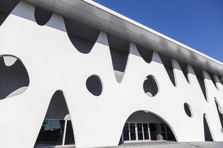 オスピタ レート ・ デ ・ リョブ レガート、スペイン-8 月 17,2014: 近代建築、建物、フィラデ バルセロナ、貿易の公正な機関、会議、伊東豊雄、グラ