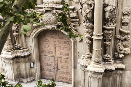 ignacio: MANRESA,SPAIN-JULY 25,2011: Facade Church, baroque style,Cave of Saint Ignatius,Manresa,province Barcelona,Catalonia.