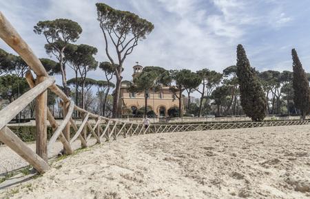 ROME,ITALY-MARCH 21,2012: Gardens Villa Borghese.