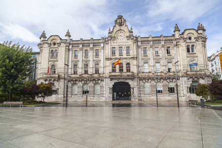 SANTANDER,SPAIN-SEPTEMBER 23,2015: City hall, Casa consistorial or ayuntamiento, Santander, Cantabria, Spain. Editorial