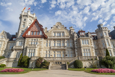 SANTANDER,SPAIN-SEPTEMBER 26,2015: Royal Palace, Real Palacio de la Magdalena, Santander,Cantabria,Spain.