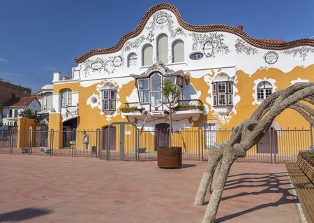 SANT JOAN DESPI,SPAIN- JUNE 27,2015: Architecture, modernist style, Can Negre, by Josep Maria Jujol Gibert. Sant Joan Despi, Province Barcelona, Catalonia. Editorial