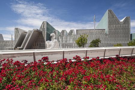 ZARAGOZA,SPAIN-MAY 29,2014: Modern architecture, buildings in Expo 2008 site,Zaragoza, Spain. Editorial