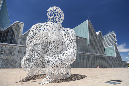 ZARAGOZA, SPAIN- MAY 29, 2014: Urban art, Sculpture