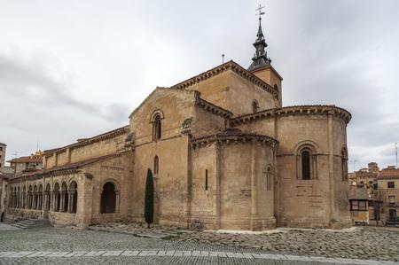 millan: SEGOVIA,SPAIN-NOVEMBER 20,2012: Church, Iglesia de San Millan,romanesque style, Segovia, Castilla-Leon,Spain.