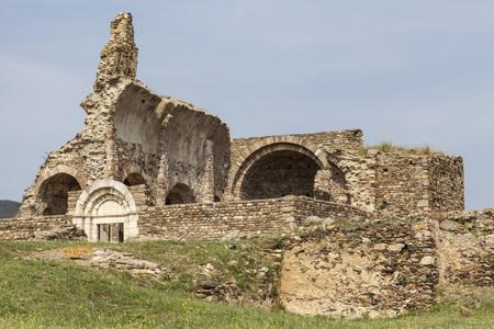 ROSES,SPAIN-MAY 31,2012: Ciutadella de Roses, ruined fortification, Roses, province Girona, Costa Brava, Catalonia. Editorial